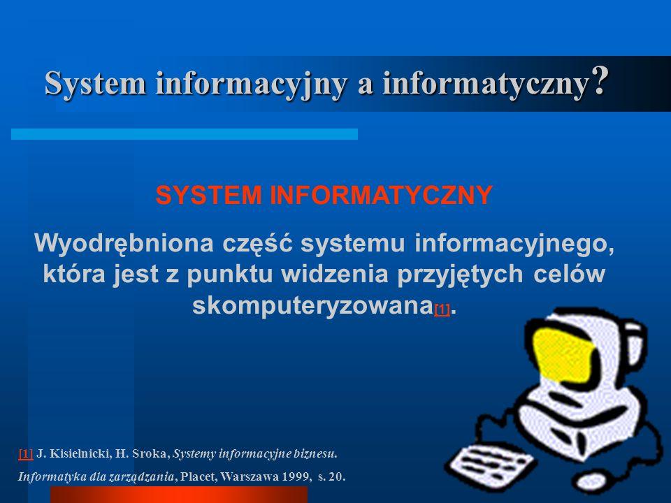 System informacyjny a informatyczny