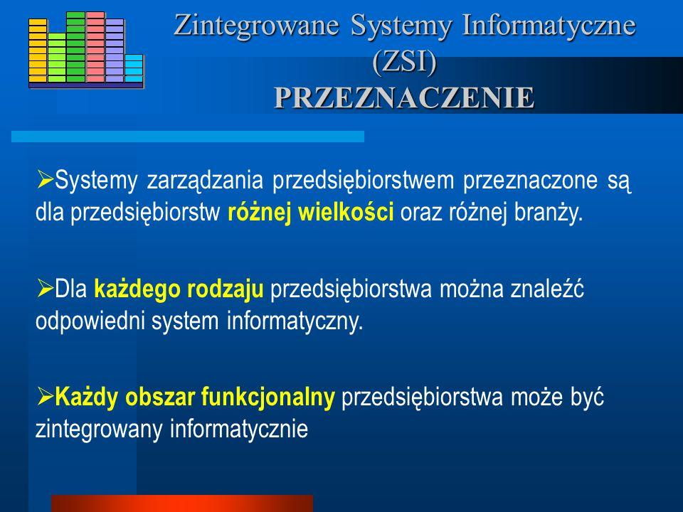 Zintegrowane Systemy Informatyczne (ZSI) PRZEZNACZENIE
