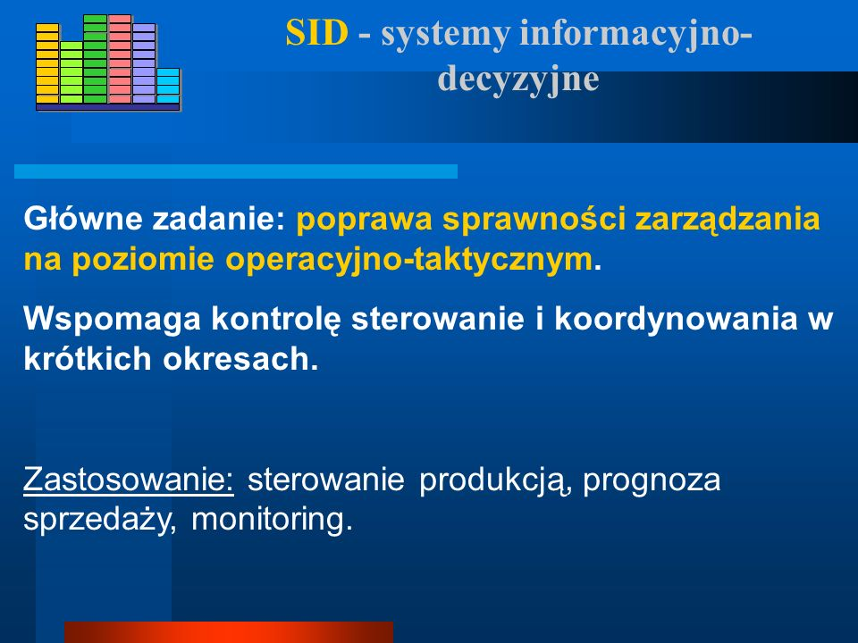 SID - systemy informacyjno-decyzyjne