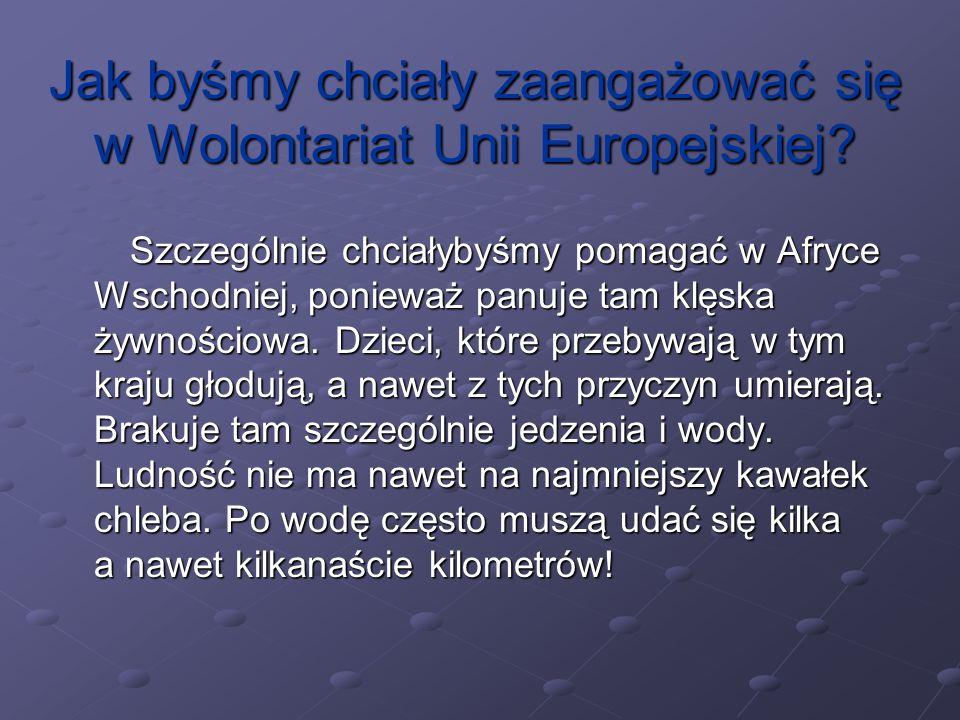 Jak byśmy chciały zaangażować się w Wolontariat Unii Europejskiej