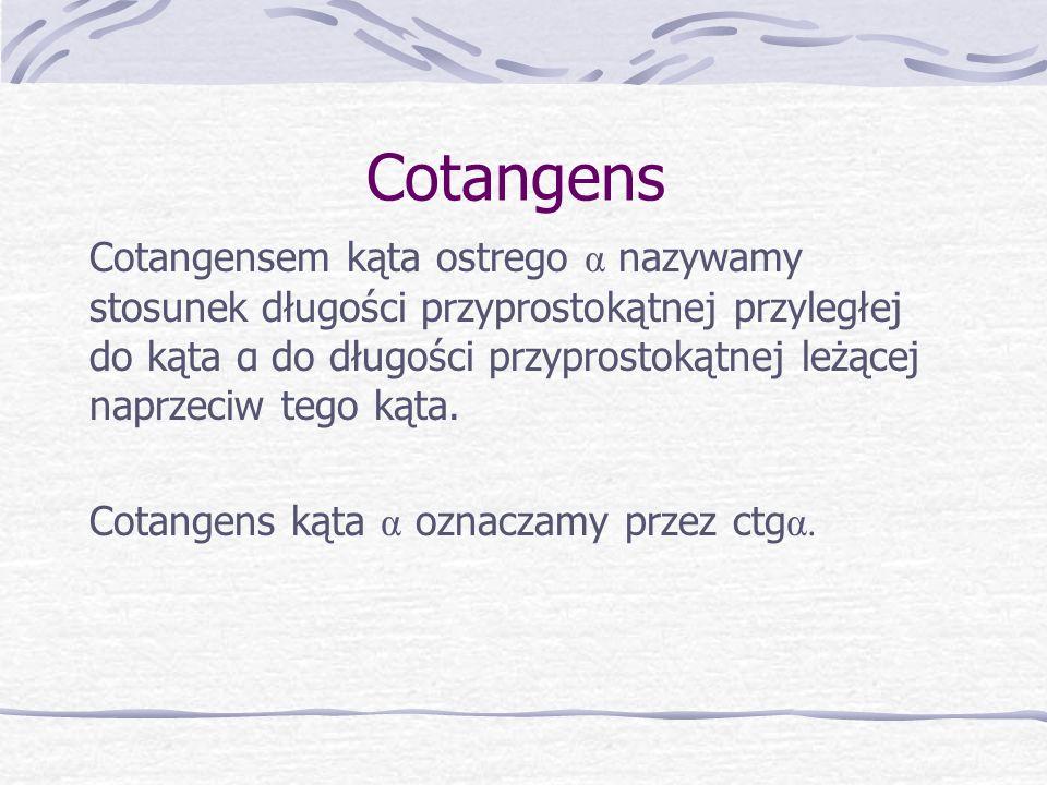 Cotangens
