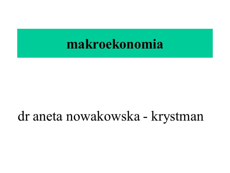 makroekonomia dr aneta nowakowska - krystman
