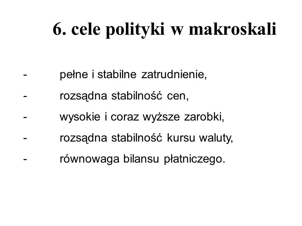 6. cele polityki w makroskali