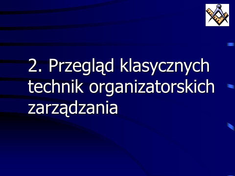 2. Przegląd klasycznych technik organizatorskich zarządzania