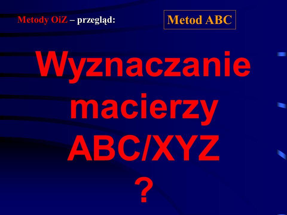Wyznaczanie macierzy ABC/XYZ