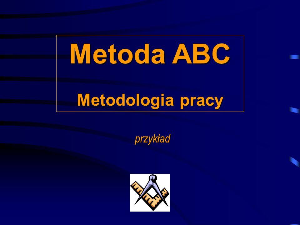 Metoda ABC Metodologia pracy przykład