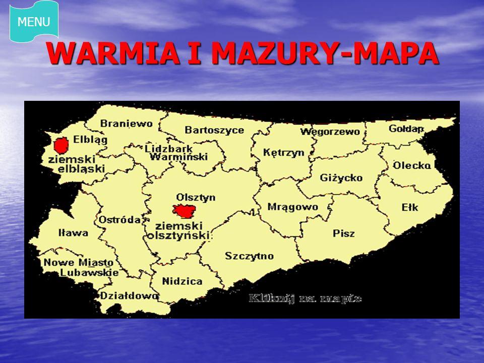 MENU WARMIA I MAZURY-MAPA