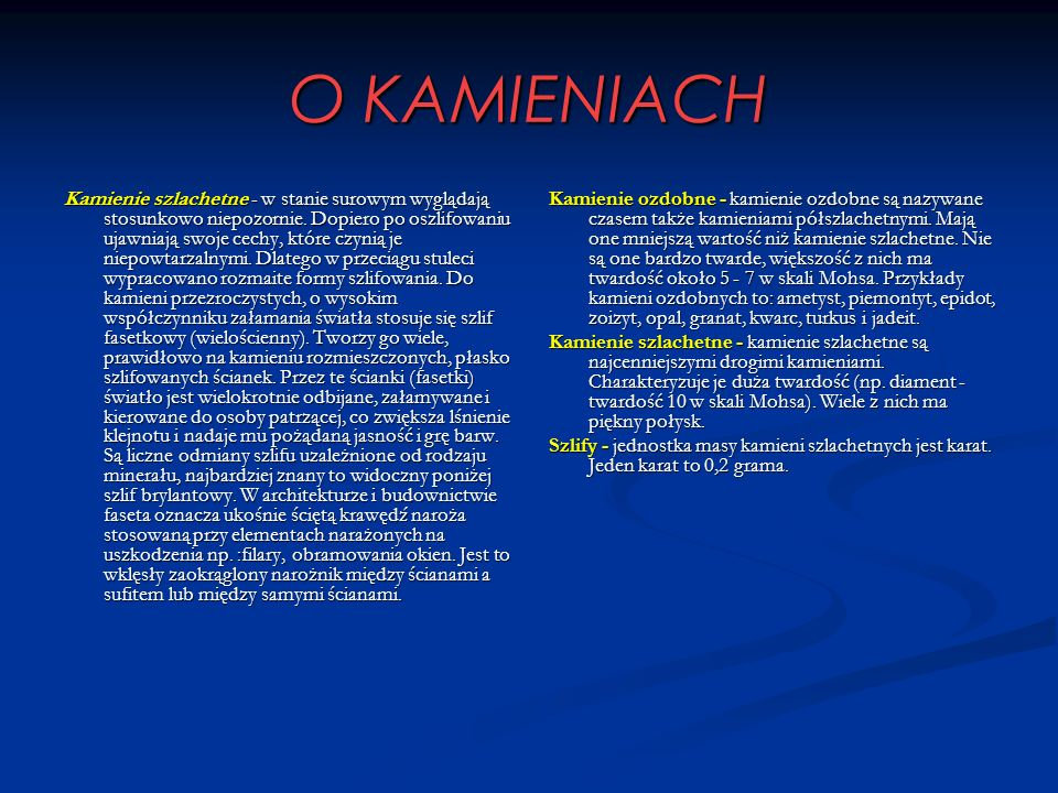 O KAMIENIACH