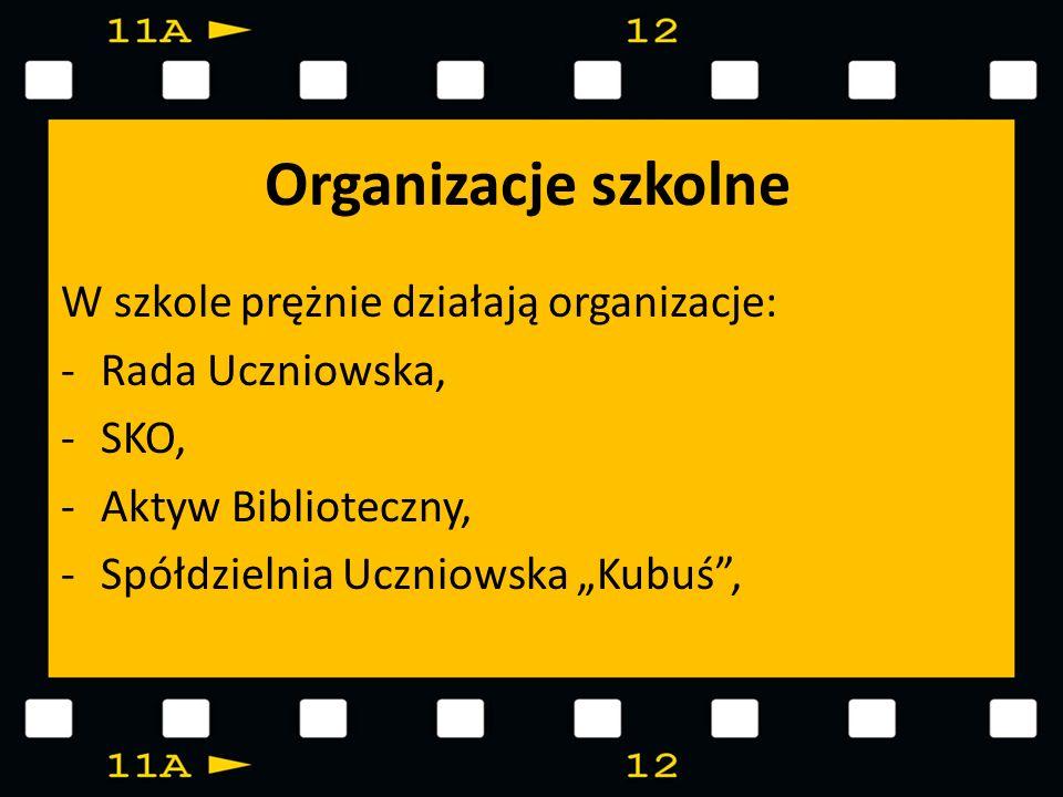 Organizacje szkolne W szkole prężnie działają organizacje: