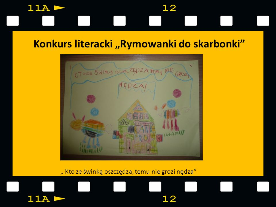 "Konkurs literacki ""Rymowanki do skarbonki"