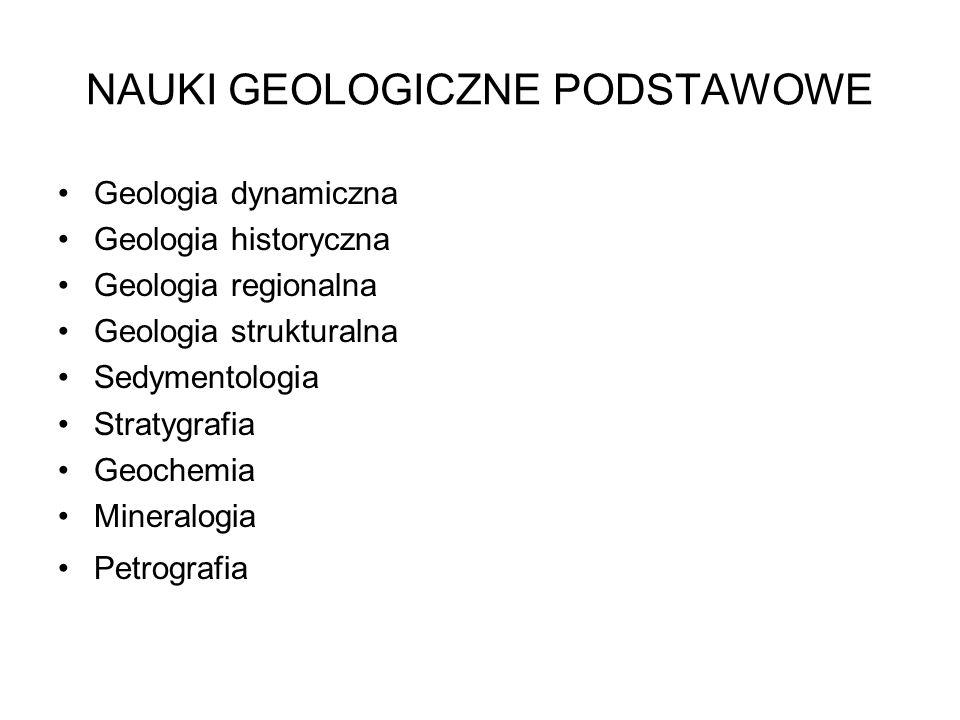 NAUKI GEOLOGICZNE PODSTAWOWE