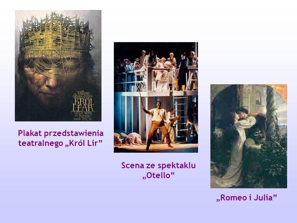 """Plakat przedstawienia teatralnego """"Król Lir"""