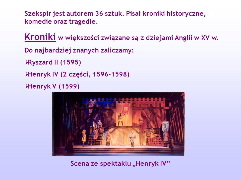 "Scena ze spektaklu ""Henryk IV"