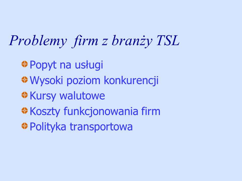 Problemy firm z branży TSL