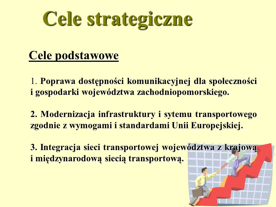 Cele strategiczne Cele podstawowe
