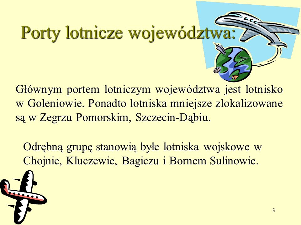 Porty lotnicze województwa: