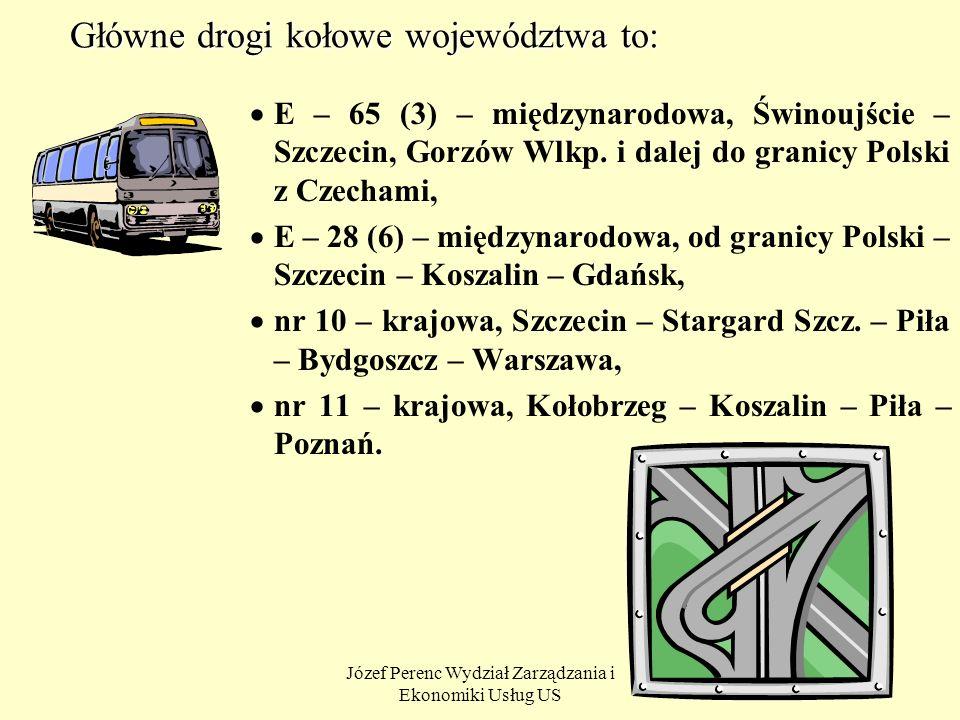 Główne drogi kołowe województwa to: