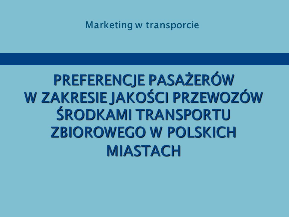 Marketing w transporcie