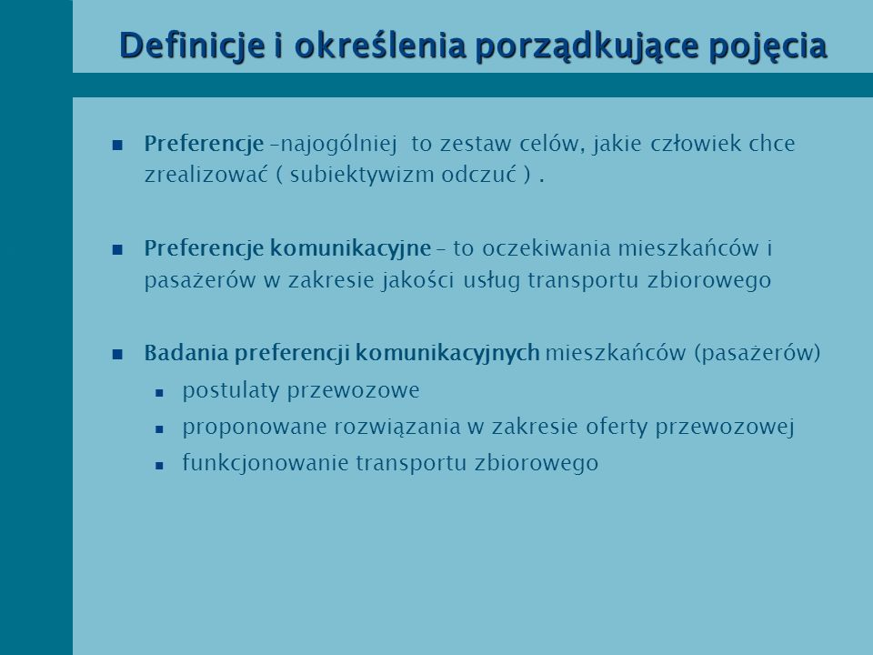 Definicje i określenia porządkujące pojęcia