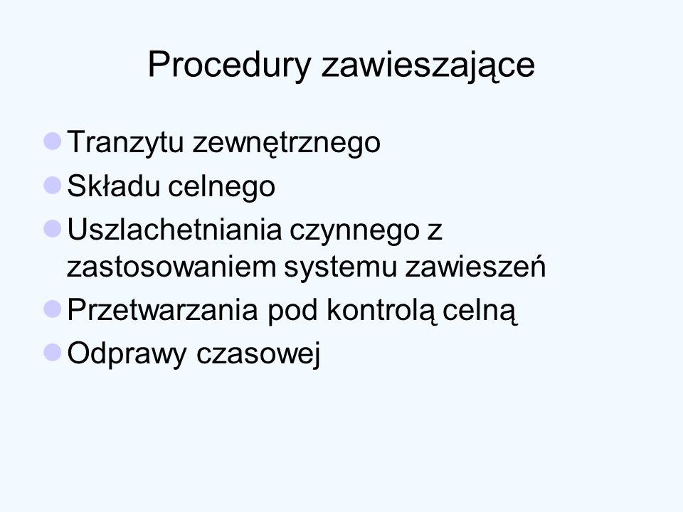 Procedury zawieszające