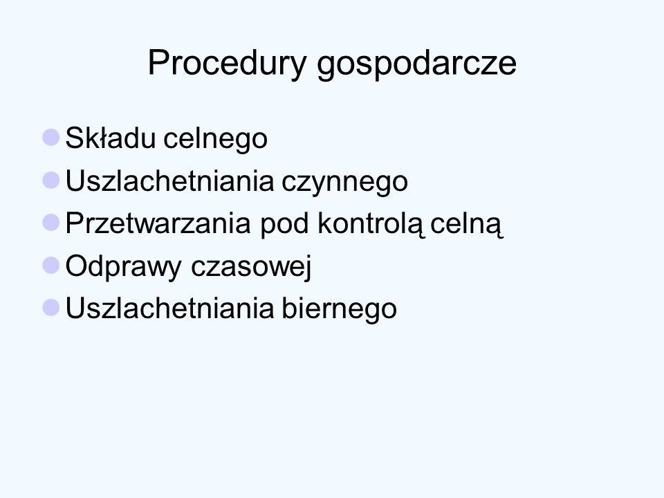 Procedury gospodarcze