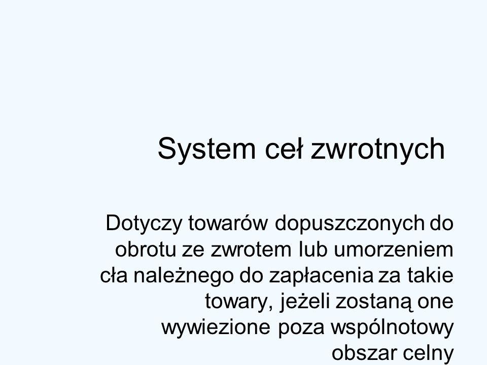 System ceł zwrotnych
