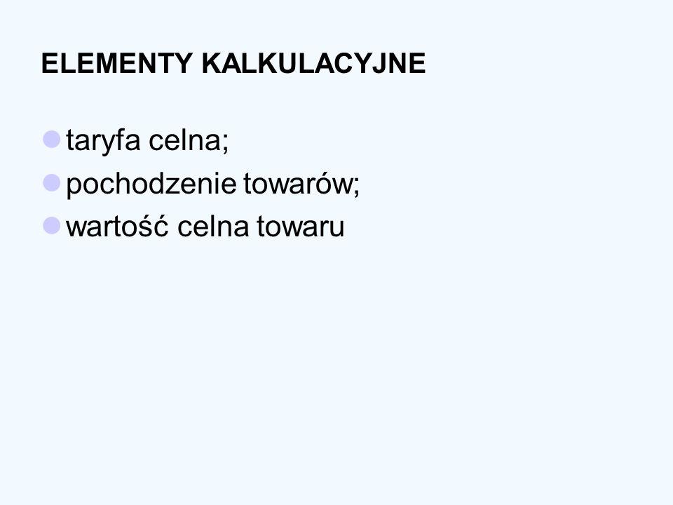 ELEMENTY KALKULACYJNE