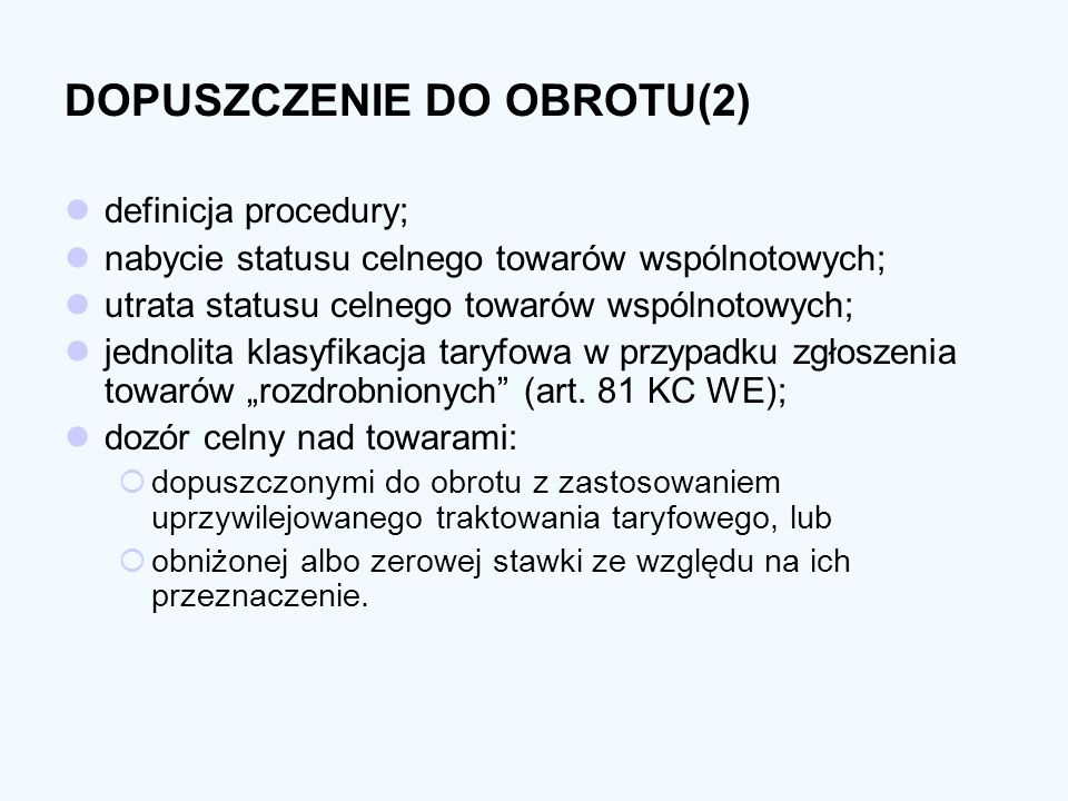 DOPUSZCZENIE DO OBROTU(2)