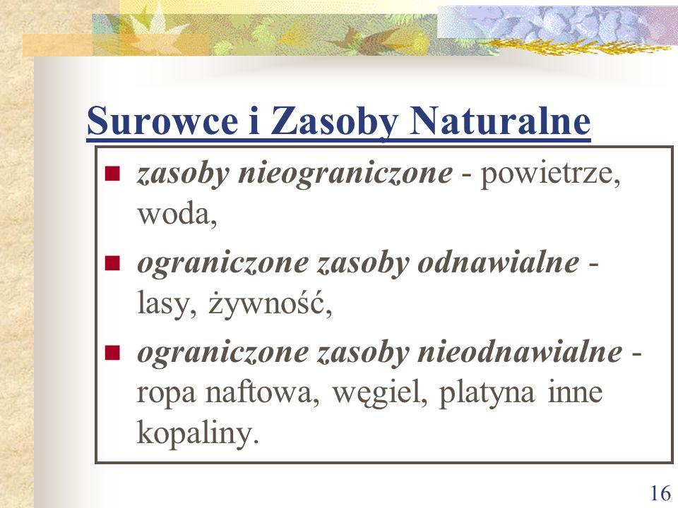 Surowce i Zasoby Naturalne