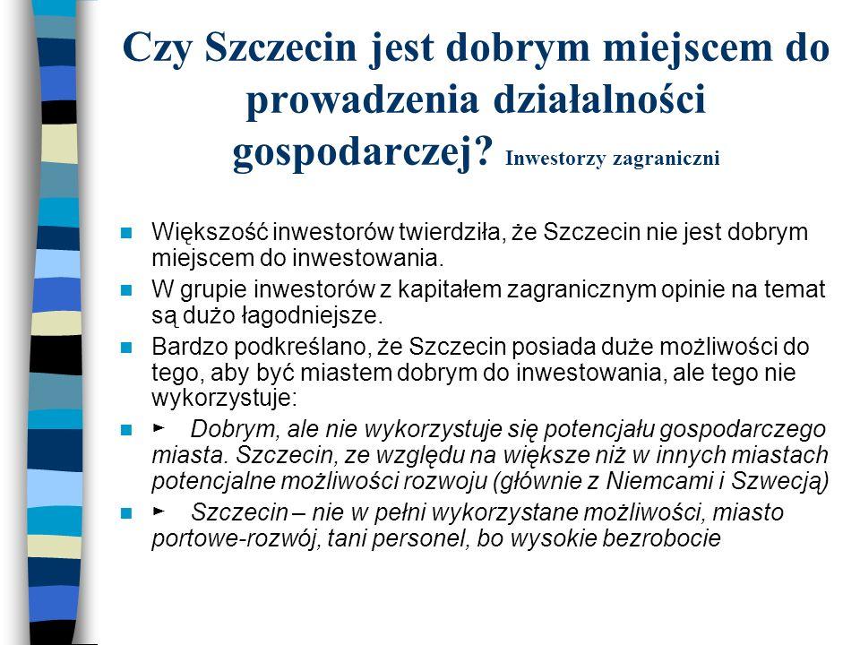 Czy Szczecin jest dobrym miejscem do prowadzenia działalności gospodarczej Inwestorzy zagraniczni