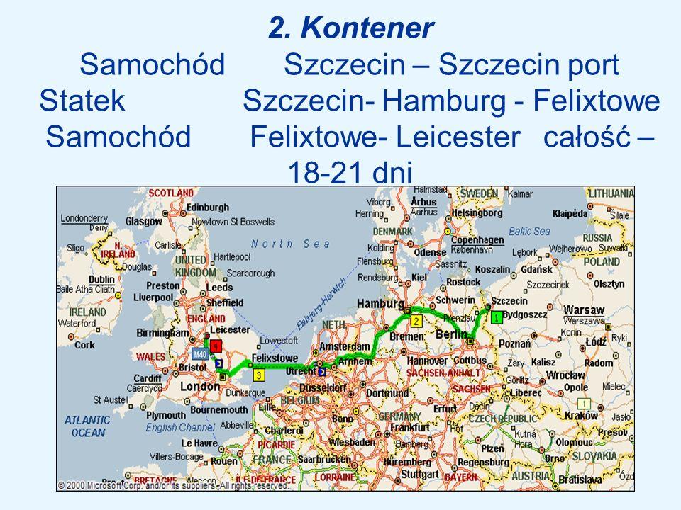 2. Kontener Samochód. Szczecin – Szczecin port Statek