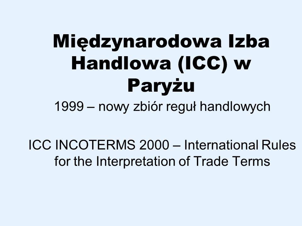 Międzynarodowa Izba Handlowa (ICC) w Paryżu