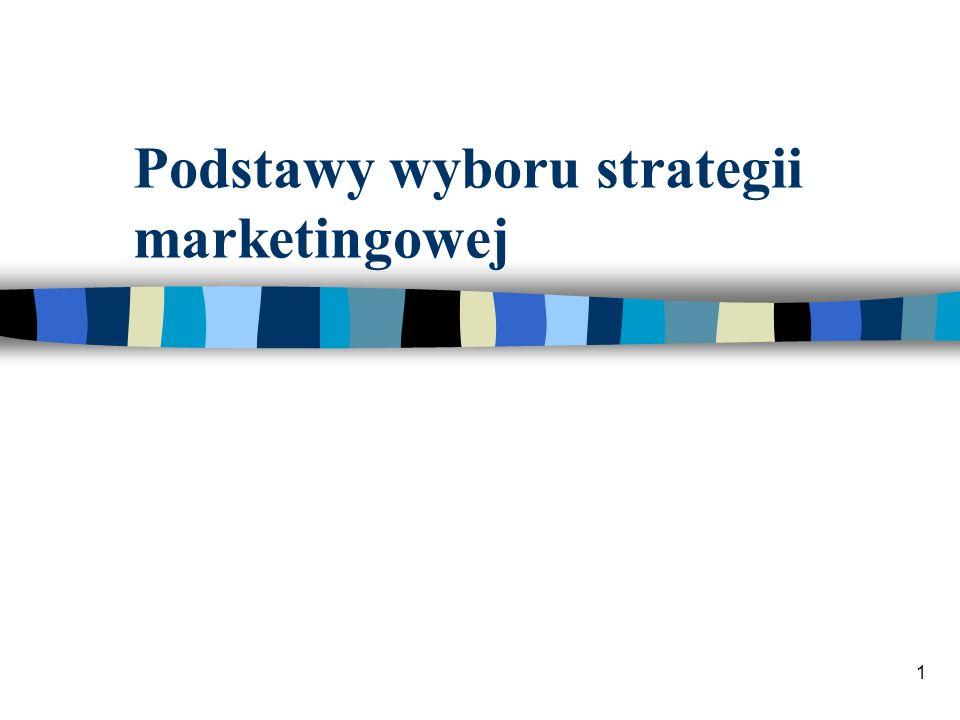 Podstawy wyboru strategii marketingowej