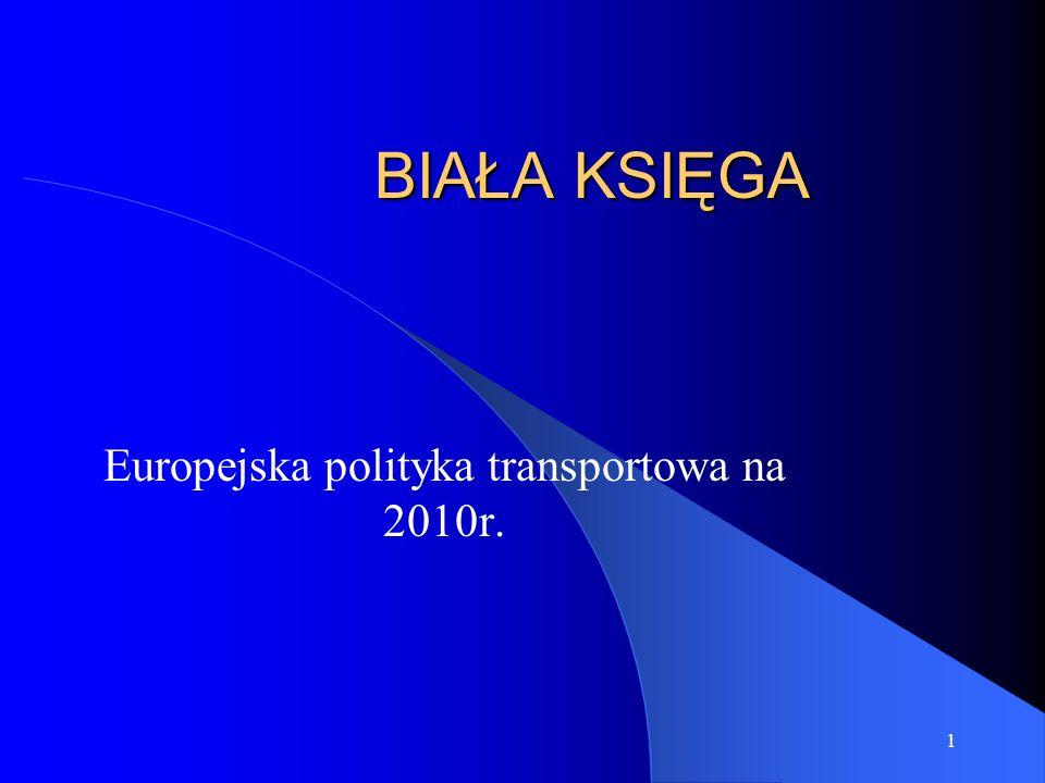 Europejska polityka transportowa na 2010r.