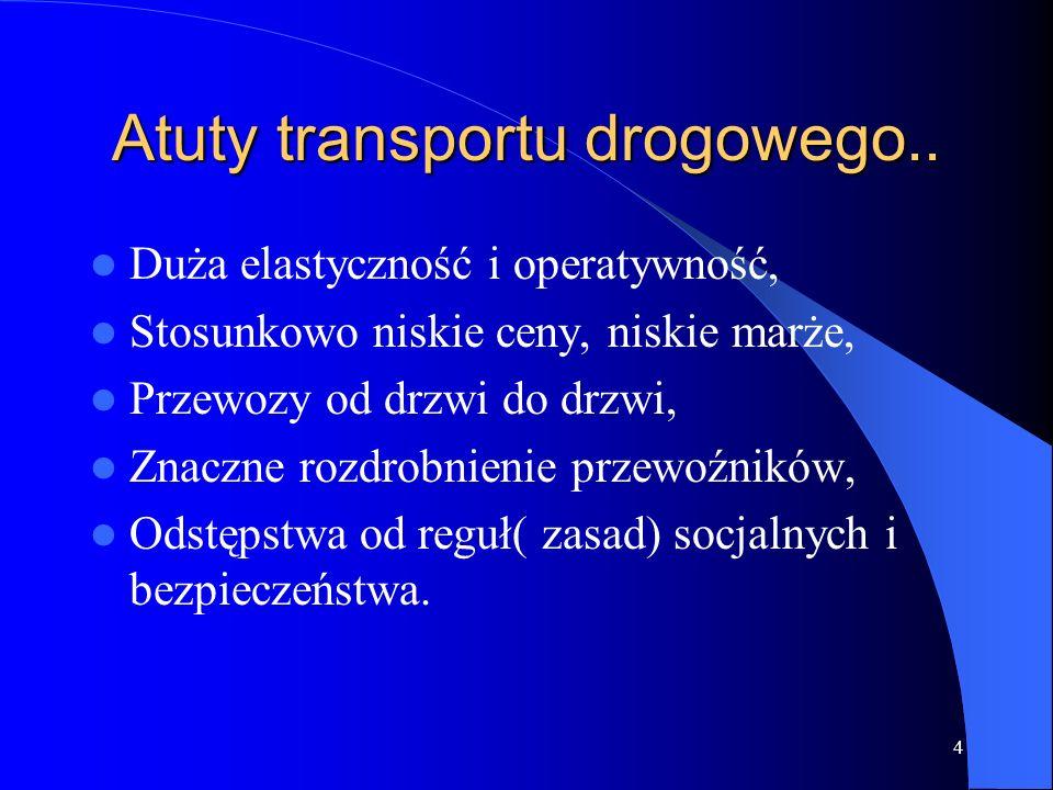 Atuty transportu drogowego..