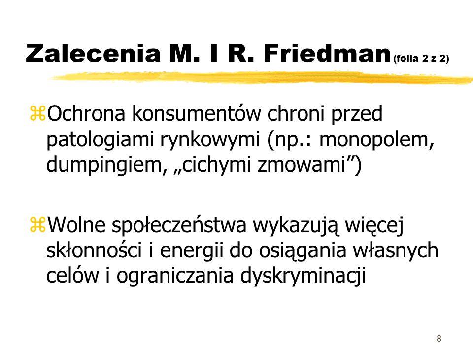 Zalecenia M. I R. Friedman (folia 2 z 2)