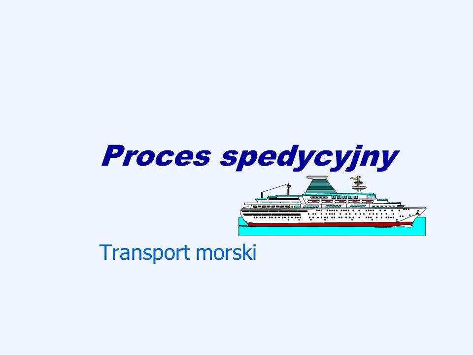 Proces spedycyjny Transport morski