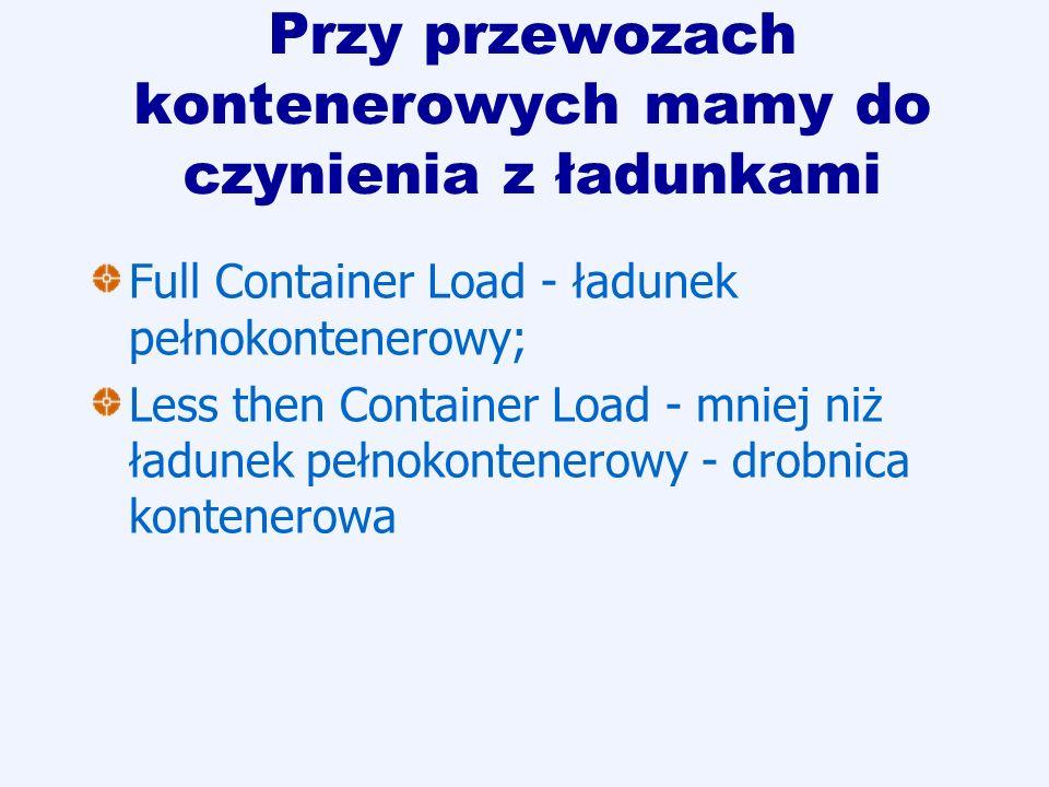 Przy przewozach kontenerowych mamy do czynienia z ładunkami