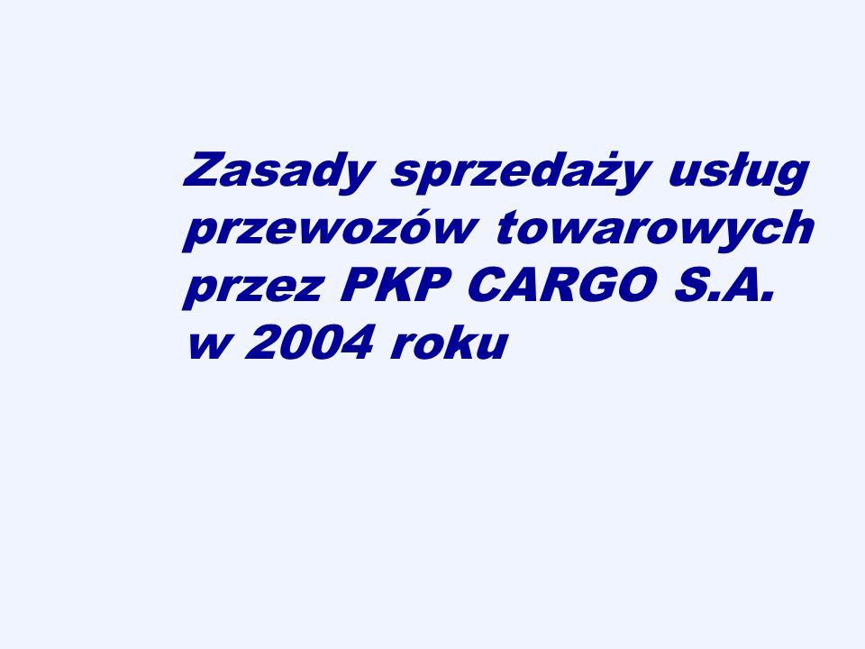 Zasady sprzedaży usług przewozów towarowych przez PKP CARGO S. A