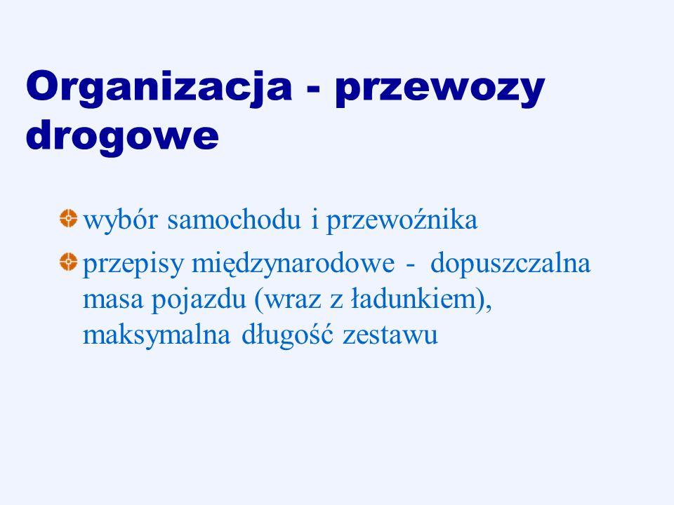 Organizacja - przewozy drogowe