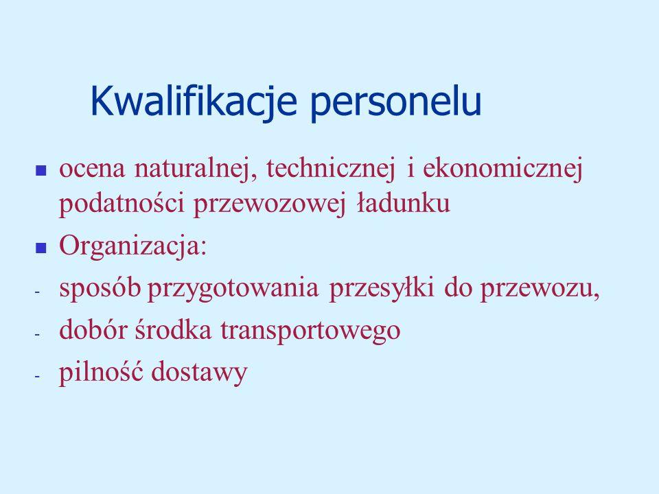 Kwalifikacje personelu