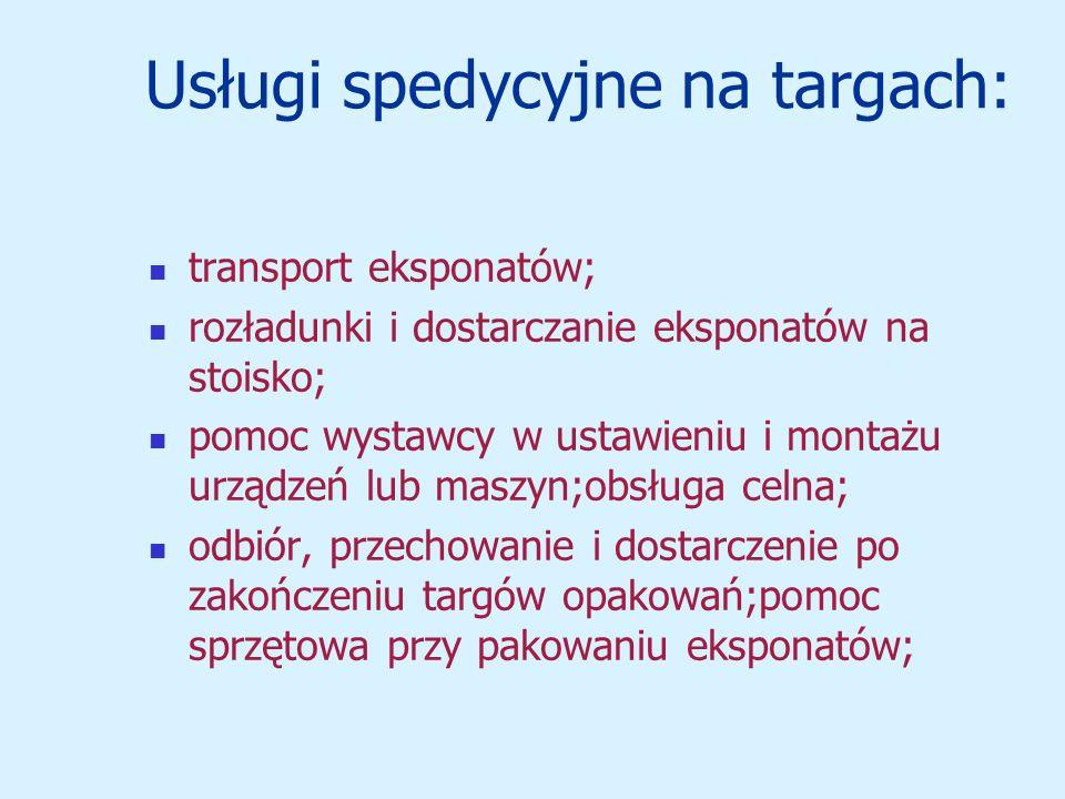 Usługi spedycyjne na targach: