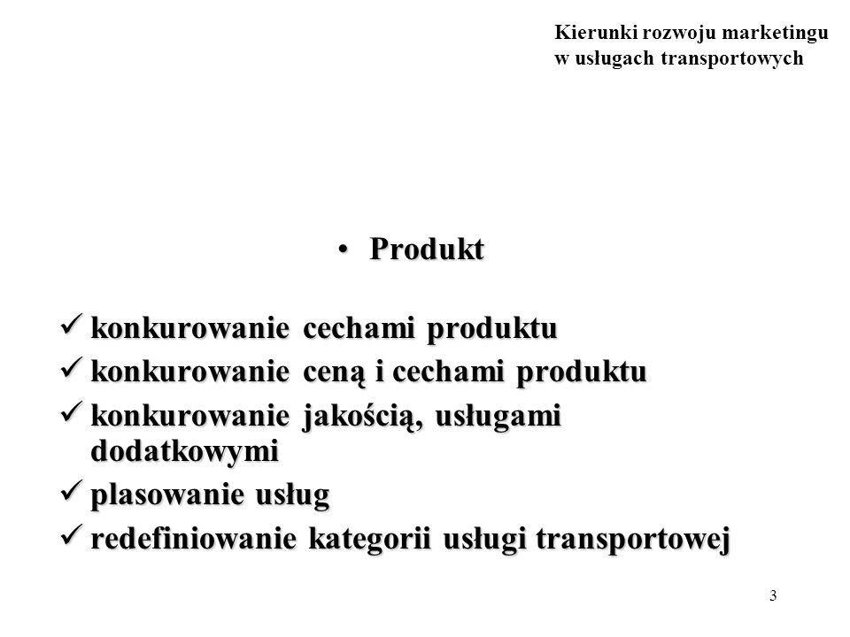Produkt konkurowanie cechami produktu. konkurowanie ceną i cechami produktu. konkurowanie jakością, usługami dodatkowymi.