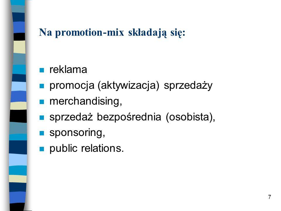 Na promotion-mix składają się: