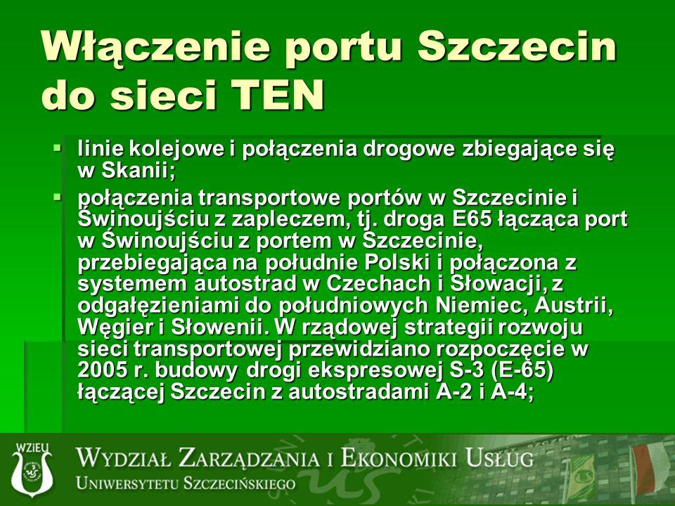 Włączenie portu Szczecin do sieci TEN