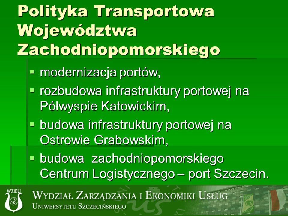 Polityka Transportowa Województwa Zachodniopomorskiego