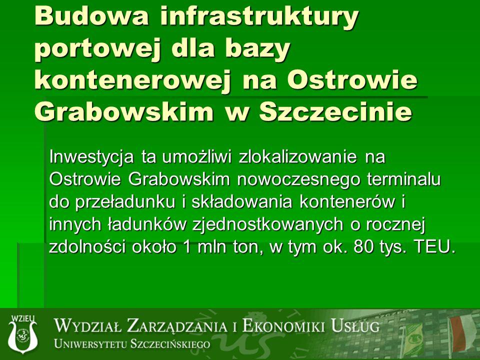 Budowa infrastruktury portowej dla bazy kontenerowej na Ostrowie Grabowskim w Szczecinie
