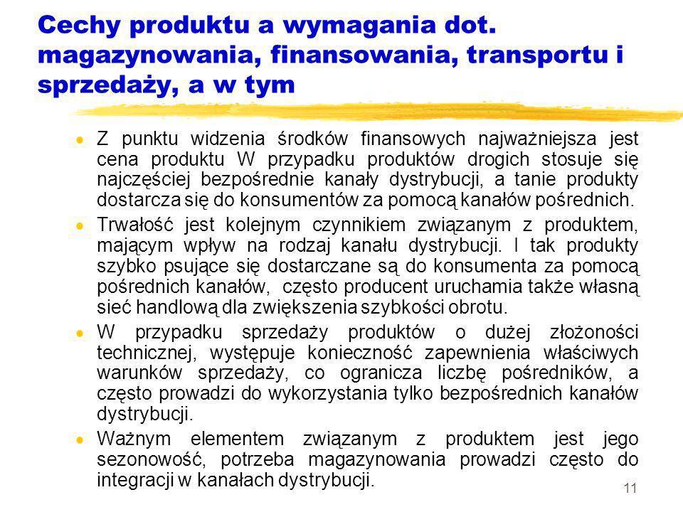 Cechy produktu a wymagania dot