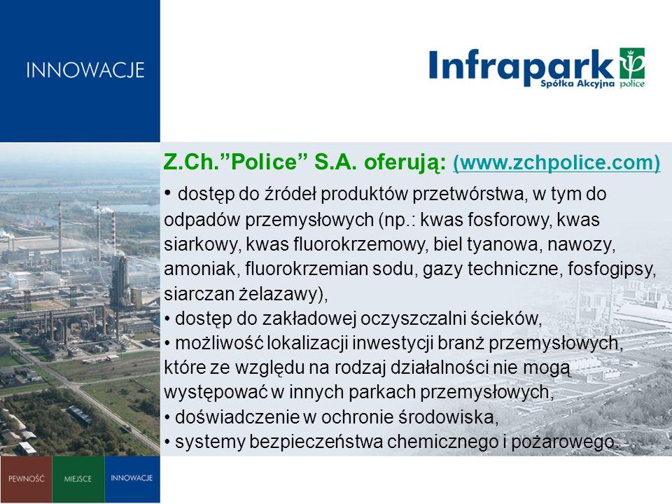 Z.Ch. Police S.A. oferują: (www.zchpolice.com)