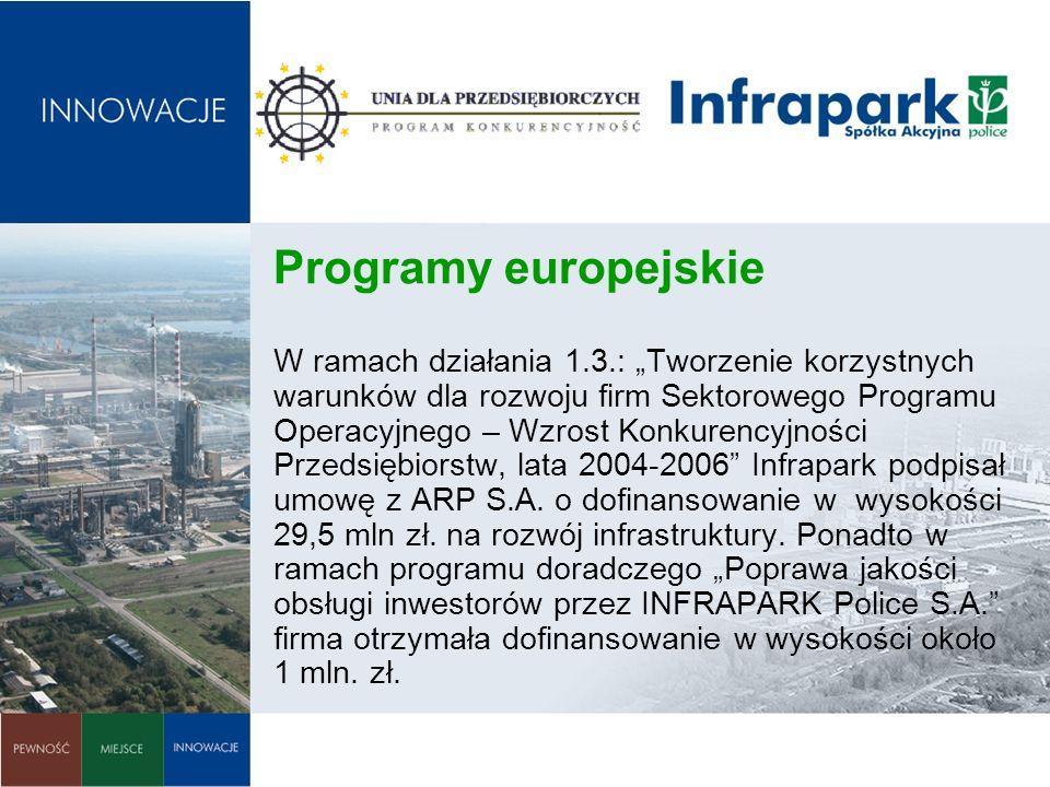Programy europejskie W ramach działania 1. 3